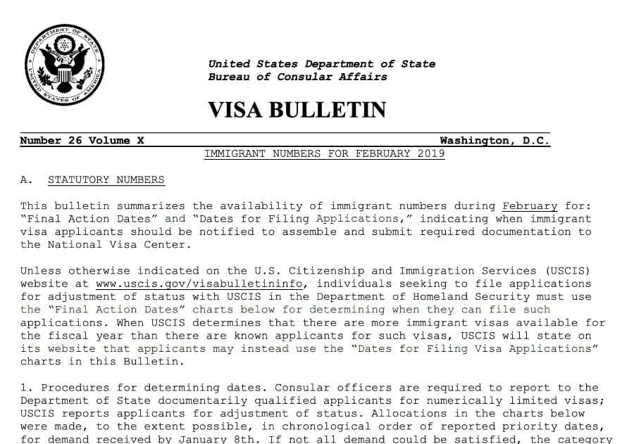 How Does the Visa Bulletin Work