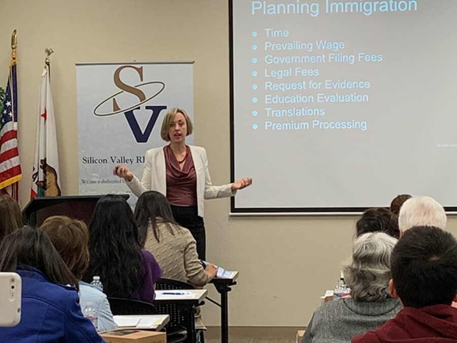 Sophie Alcorn at Understanding SIlicon Valley Immigration